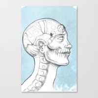 grid Canvas Prints featuring Grid by isberg illustration