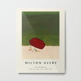 Poster-Milton Avery-On the beach. Metal Print