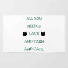 All You Need Is Love, Yarn, & Cats. Rug