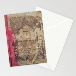 Antique Book 1 | Old Testament Bible Bibliophile Photography Stationery Cards