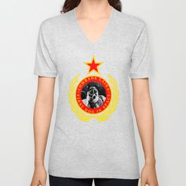 Comrade Laika First Dog In Space Unisex V-Neck