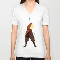 airbender V-neck T-shirts featuring Aang by JHTY