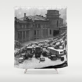 The Great New England Hurricane of 1938 - Providence, Rhode Island Shower Curtain