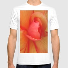 Strawberries and Cream Abstract. MEDIUM Mens Fitted Tee White