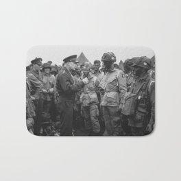 Eisenhower Talking With Airborne On D-Day Bath Mat