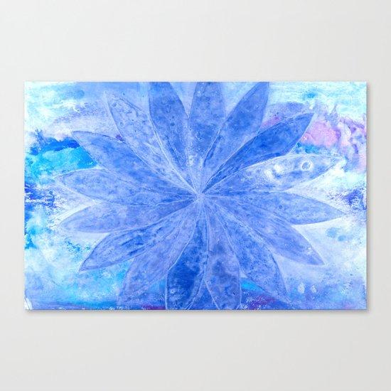 ABSTRACT BLUE DAISY Canvas Print