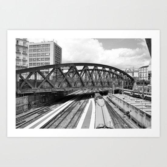 Paris gare de l'Est  Art Print