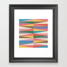 Blooming Triangles Framed Art Print