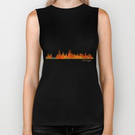 Chicago City Skyline Hq v1 Biker Tank