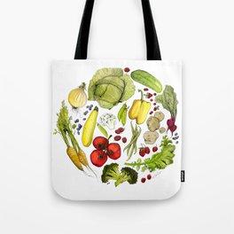 Vegetable Mandala Tote Bag