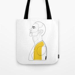 Suited in Mustard Tote Bag
