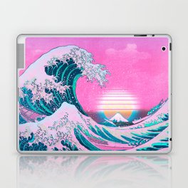 Vaporwave Aesthetic Great Wave Off Kanagawa Laptop & iPad Skin