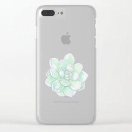 Echeveria Tippy watercolour Clear iPhone Case