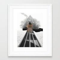 bass Framed Art Prints featuring bass by Ilenia Locci