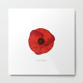 poppy .. lest we forget Metal Print
