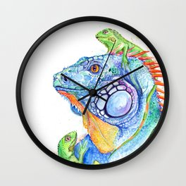 Here be Dragons Wall Clock