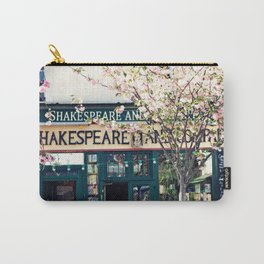 Cherry blossoms in Paris, Shakespeare & Co. Carry-All Pouch