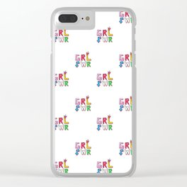 GRL PWR pattern Clear iPhone Case