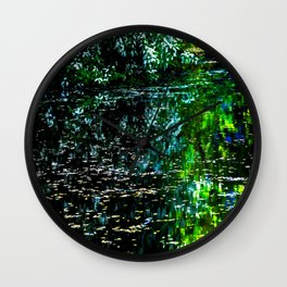 Old Pond in Spring Wall Clock