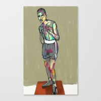 ali gulec Canvas Prints featuring ali by blibre