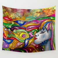 psychedelic Wall Tapestries featuring Psychedelic by TheAsmek