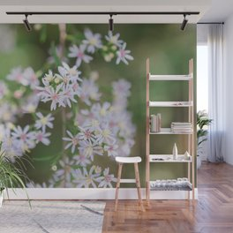 Dainty Florals - Purple Asters Photography Wall Mural