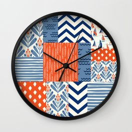 Beautiful Patch 8 (Nautical) Wall Clock