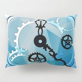 Blue Clock Pillow Sham