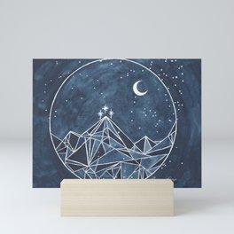 Night Court moon and stars Mini Art Print