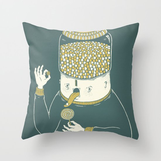 Candyholic Throw Pillow
