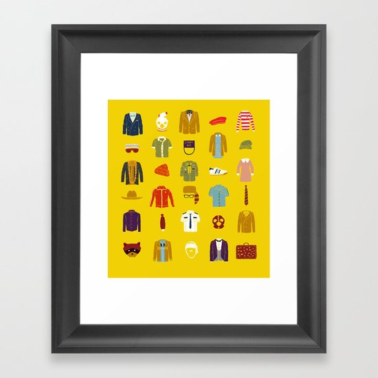 W.A Luggage Framed Art Print