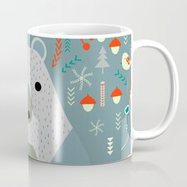 Winter pattern with baby bear Coffee Mug