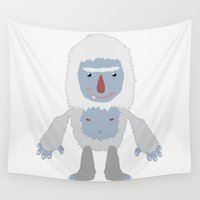 yeti Wall Tapestries featuring Yeti by Kidney Theft