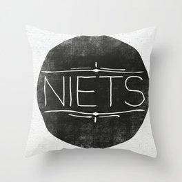 Niets Throw Pillow