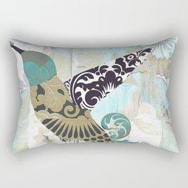 Hummingbird Batik I Rectangular Pillow