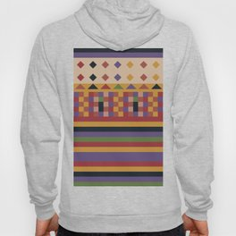 Stripes and squares ethnic pattern Hoody