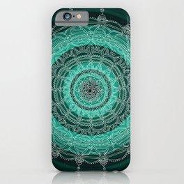 Enjoying on Black Background iPhone Case