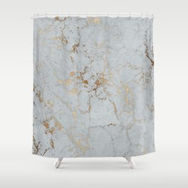 Stylish blush teal gold elegant abstract marble Shower Curtain