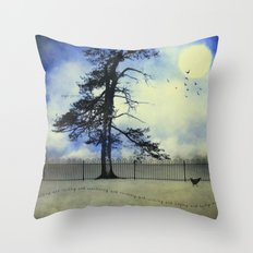 Walking, Talking, and Wandering Throw Pillow
