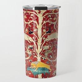Silk Heriz Azerbaijan Northwest Persian Rug Print Travel Mug