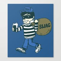swag Canvas Prints featuring Swag by Thomas Orrow