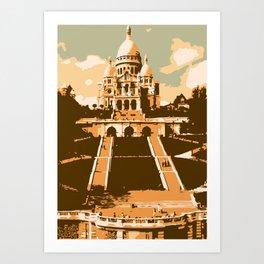 Sacré Coeur Montmartre Paris Art Print