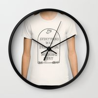 vonnegut Wall Clocks featuring Vonnegut -  Billy Pilgrim by Neon Wildlife