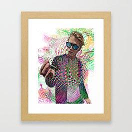 Man Smoking Pot and Getting High Framed Art Print
