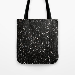 Black and white shiny glitter sparkles Tote Bag