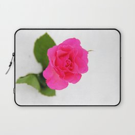 Pink Rose in the Snow Laptop Sleeve