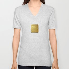 Golden Sun of the Mayas Unisex V-Neck