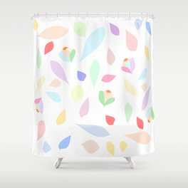 Colorful pastel leaves Shower Curtain