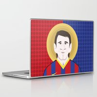 messi Laptop & iPad Skins featuring Messi Barcelona by Damian Allende