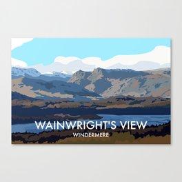 Wainwrights View, Windermere Canvas Print